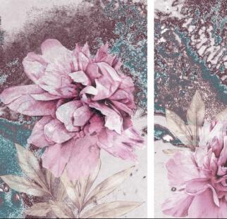אבסטרקט פרחים וורודים