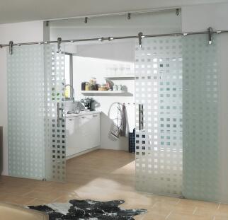 דלת זכוכית מודפסת קרמית