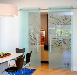 דלת זכוכית מעוצבת בהדפס קרמי  (5)
