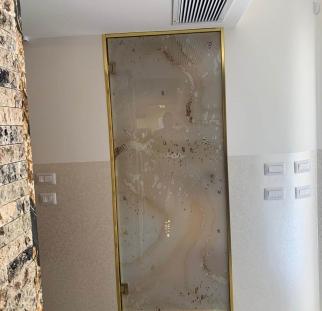 דלת זכוכית בהדפסה קרמית (2)