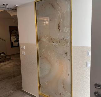 דלת זכוכית בהדפסה קרמית (4)