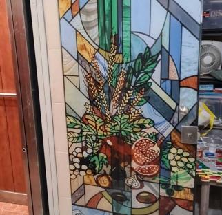 דלת זכוכית ויטראז (4)