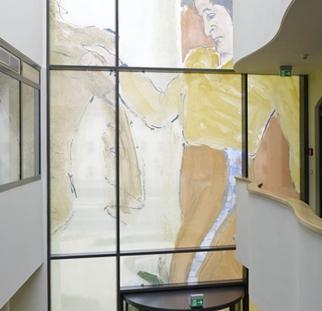 הדפס מזכוכית קרמית על קירות