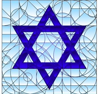 ויטראז מגן דוד כחול
