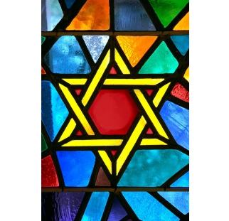 ויטראז מגן דוד צבעוני לבית כנסת