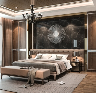 חדר שינה מראה אבן  (12)
