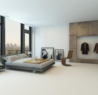 חדר שינה - מראה בטון בזכוכית   (1)