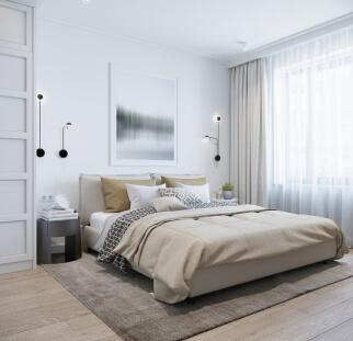 חדר שינה - מראה בטון בזכוכית   (17)