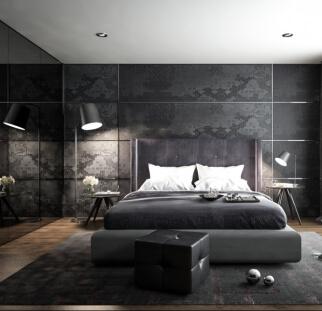 חדר שינה - מראה בטון בזכוכית   (29)