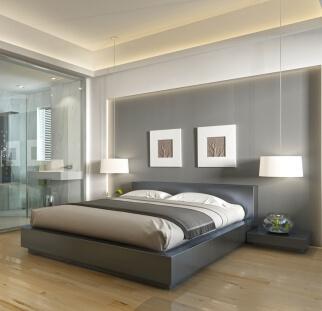 חדר שינה - מראה בטון בזכוכית   (6)
