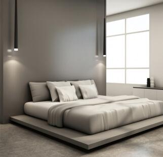 חדר שינה - מראה בטון בזכוכית   (7)