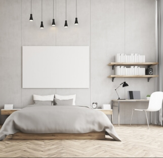 חדר שינה - מראה בטון בזכוכית   (8)