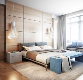 חדר שינה מראה עץ בזכוכית  (10)