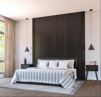 חדר שינה מראה עץ בזכוכית  (11)