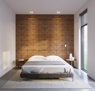 חדר שינה מראה עץ בזכוכית  (12)