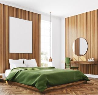 חדר שינה מראה עץ בזכוכית  (15)