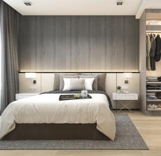 חדר שינה מראה עץ בזכוכית  (16)