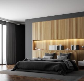 חדר שינה מראה עץ בזכוכית  (17)
