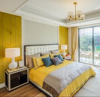 חדר שינה מראה עץ בזכוכית  (2)