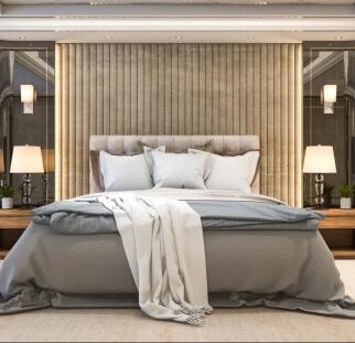 חדר שינה מראה עץ בזכוכית  (20)