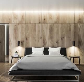חדר שינה מראה עץ בזכוכית  (23)