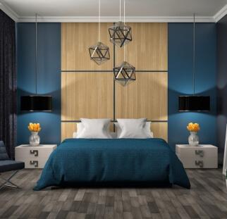 חדר שינה מראה עץ בזכוכית  (3)