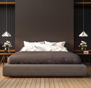 חדר שינה מראה עץ בזכוכית  (4)