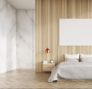 חדר שינה מראה עץ בזכוכית  (8)
