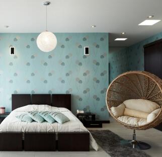חדר שינה מראה פטרנים בזכוכית  (1)
