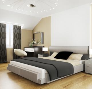 חדר שינה מראה פטרנים בזכוכית  (2)