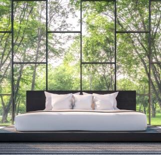 חדר שינה מראה פטרנים בזכוכית  (5)