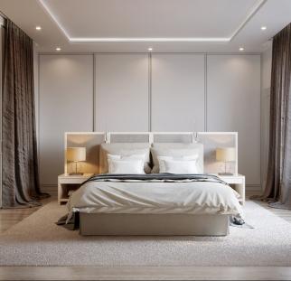 חדר שינה - מראה בטון בזכוכית   (11)