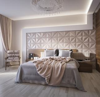 חדר שינה - מראה בטון בזכוכית   (9)