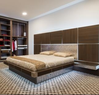 חדר שינה מראה עץ בזכוכית  (14)