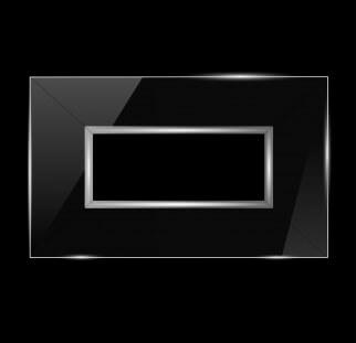 חיפוי לטלויזיה שקוף על קיר שחור