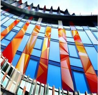 חיפוי מבנים מודפס על זכוכית  ( (3)