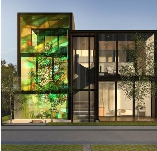 חיפוי מבנים מודפס על זכוכית  (