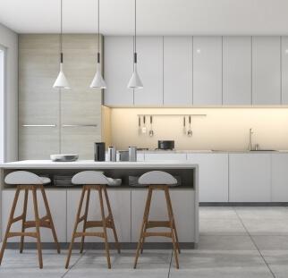 חיפוי מטבח מראה בטון - זכוכית  (11)