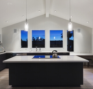 חיפוי מטבח מראה בטון - זכוכית  (2)