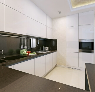 חיפוי מטבח מראה בטון - זכוכית  (5)