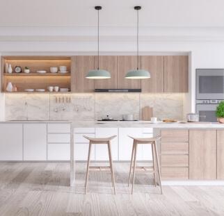 חיפוי מטבח מראה עץ - זכוכית (6)