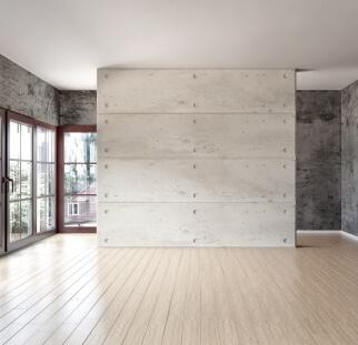 חיפוי קיר מראה בטון- זכוכית  (1)