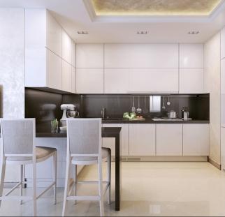 חיפוי מטבח מראה בטון - זכוכית  (4)