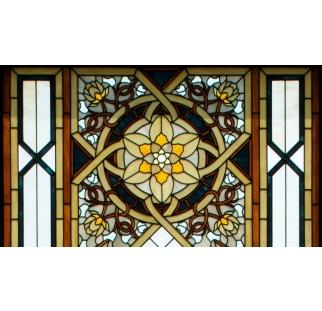 חלון מעוצב בויטראז לבית כנסת