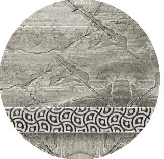 טקסטורה בטון שולחן זכוכית