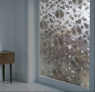 מחיצות זכוכית בדוגמאת עלים