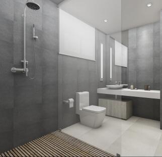 מקלחון בחדר אמבטיה
