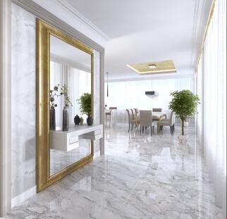 עיצוב מראות גדולות לסלון