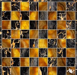עיצוב על זכוכית שחור זהב