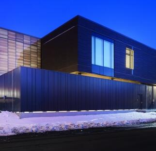 עיצוב זכוכית מבנה חוץ